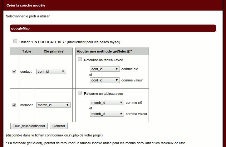faire un gestionnaire de contacts avec goolemaps et le mkframework